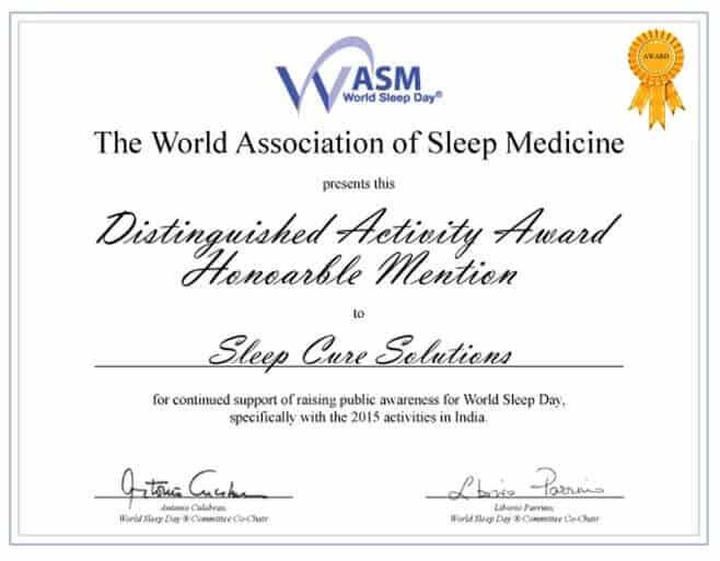 Sleep Cure Solutions Award and Honors