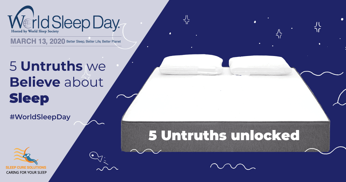 Sleep Myths & Untruths - sleep cure solutions