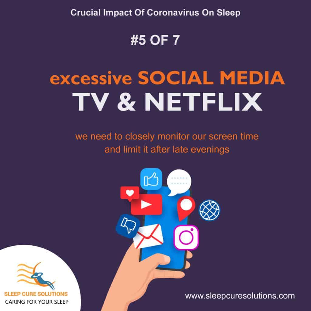 impact of COVID-19 & Coronavirus on sleep due to excessive social media