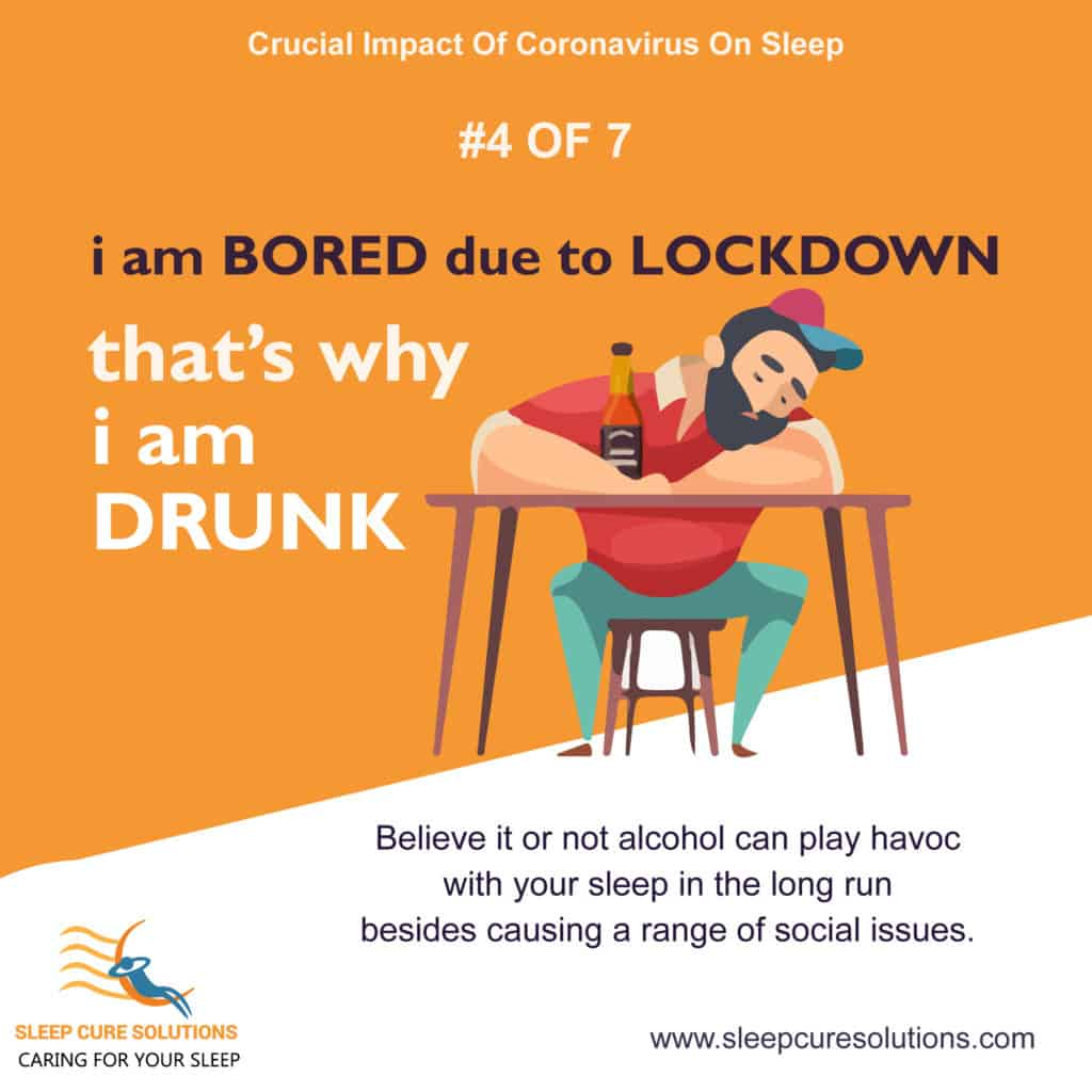 Impact of COVID-19 Pandemic on Sleep due to alcoholism