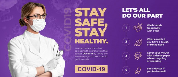stay safe stay healthy - COVID-19 - sleep cure solutions